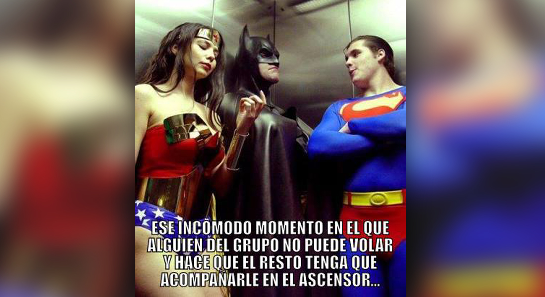 superheroes ascensor