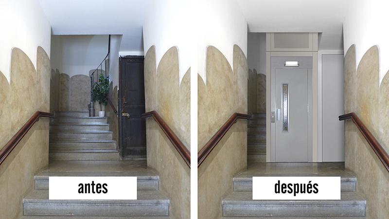Instalacion ascensor-integracion 3D