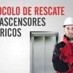Procedimiento de rescate en un ascensor eléctrico
